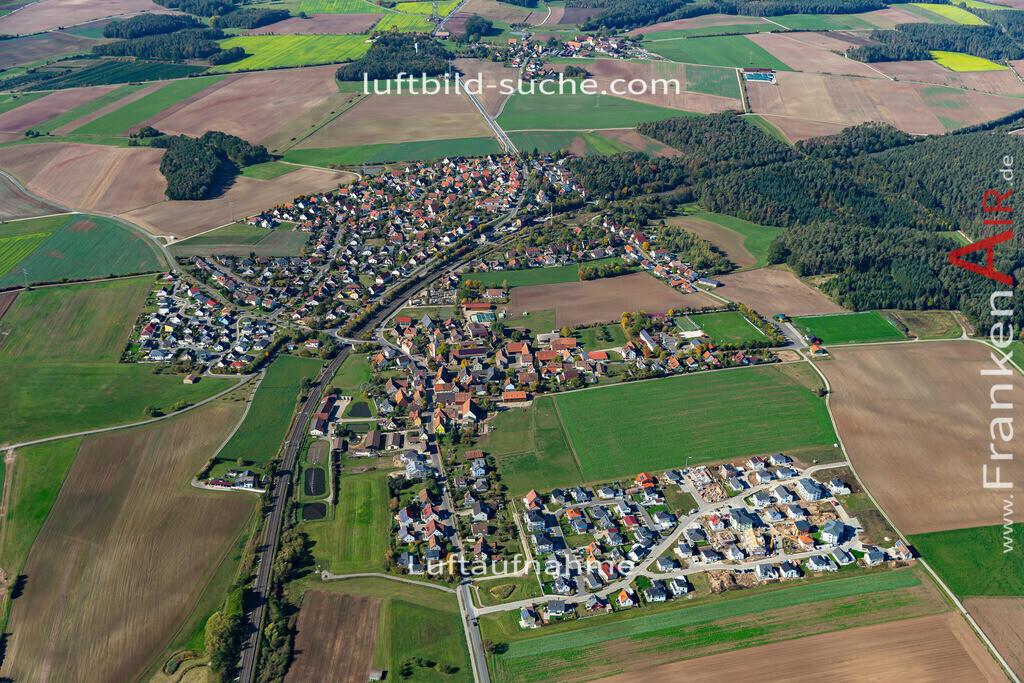 hagenbuechach-19-854 | aktuelles Luftbild von  Hagenbuechach - Luftaufnahme wurde 2019 von https://frankenair.de mittels Flugzeug (keine Drohne) erstellt.