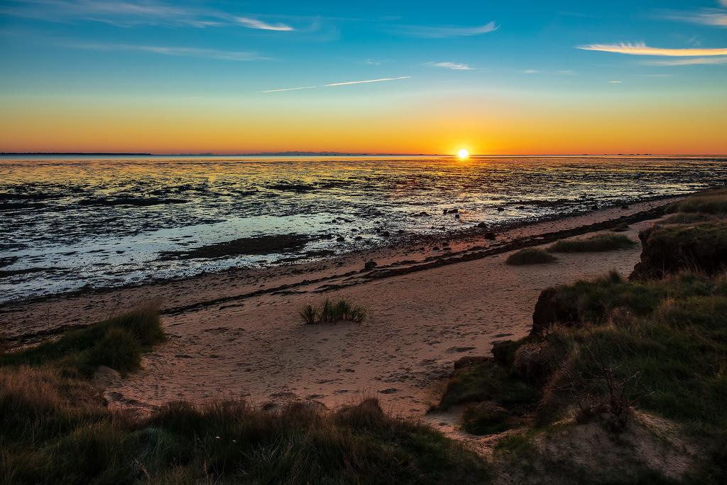 Sonnenaufgang am Wattenmeer auf der Insel Amrum | Sonnenaufgang am Wattenmeer auf der Insel Amrum.