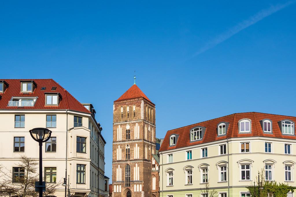 Blick auf die Östliche Altstadt von Rostock | Blick auf die Östliche Altstadt von Rostock.