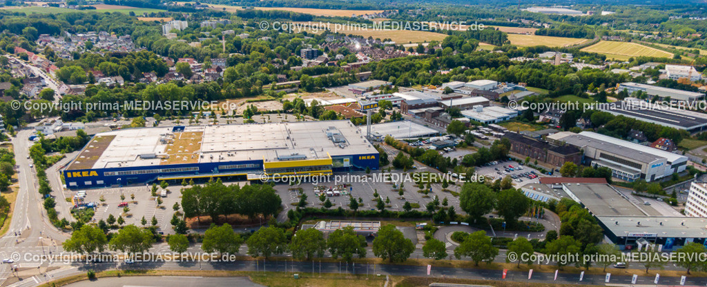 20190804-Luftbilder Dortmund Oespel   04.08.2019 in Marten (North Rhine-Westphalia, Germany) Luftbilder Dortmund Oespel IKEA Filiale im Induparl Oespel  Foto: Michael Printz / PHOTOZEPPELIN.COM