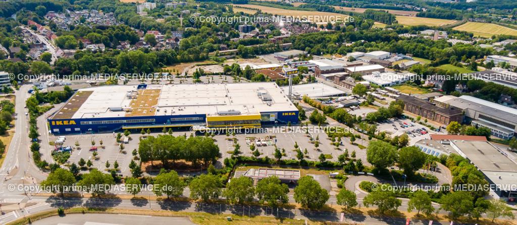 20190804-Luftbilder Dortmund Oespel | 04.08.2019 in Marten (North Rhine-Westphalia, Germany) Luftbilder Dortmund Oespel IKEA Filiale im Induparl Oespel  Foto: Michael Printz / PHOTOZEPPELIN.COM