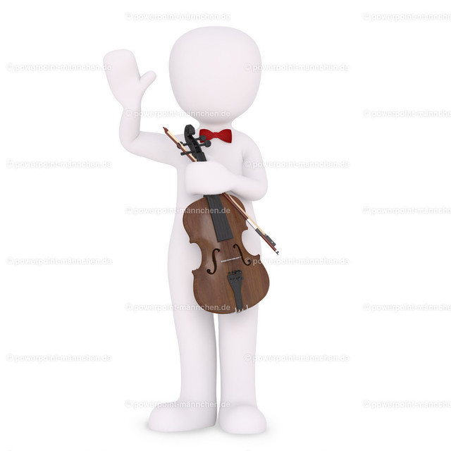 getting applause for playing a fiddle