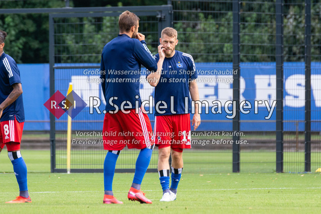 Fußball, Herren, Testspiel, Hamburger SV - FC Midtjylland, HSV-Trainingsplatz am Volksparkstadion, 20.08.2020 | Aaron Hunt (#14, HSV)