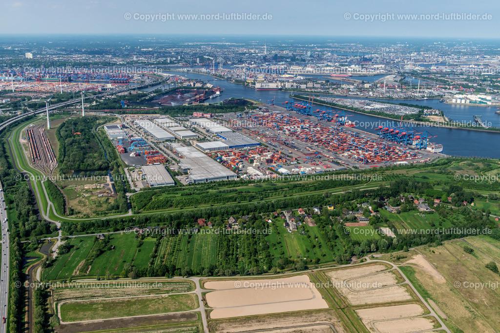 Hamburg Altenwerder CTA_HHLA_ELS_7172170517 | Hamburg - Aufnahmedatum: 17.05.2017, Aufnahmehöhe: 476 m, Koordinaten: N53°29.048' - E9°54.949', Bildgröße: 7120 x  4752 Pixel - Copyright 2017 by Martin Elsen, Kontakt: Tel.: +49 157 74581206, E-Mail: info@schoenes-foto.de  Schlagwörter:Hamburg,Luftbild, Luftbilder, Deutschland