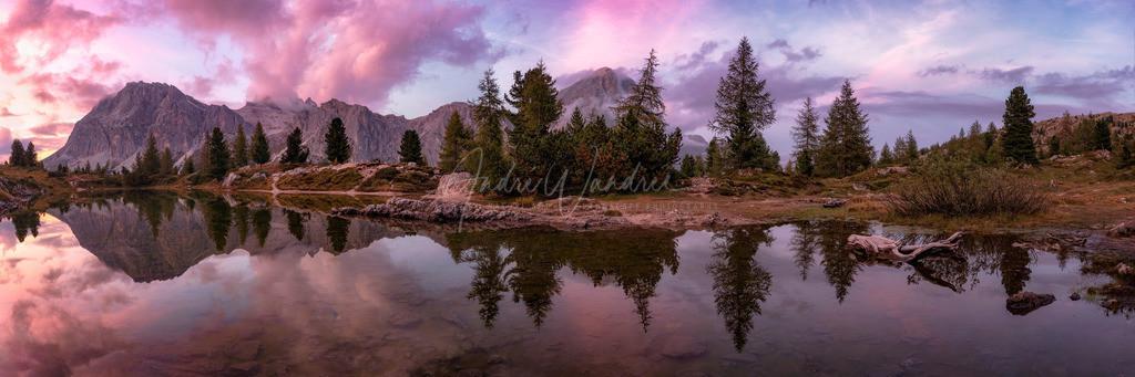 Abendliche Spiegelung (Panorama)