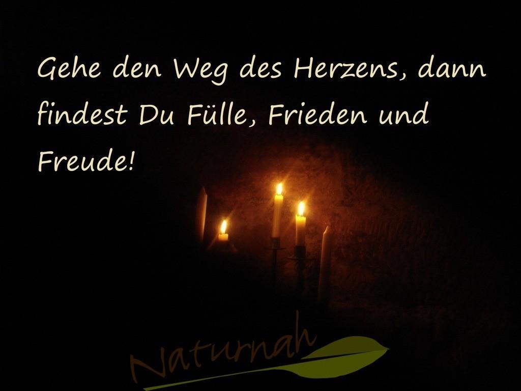 Weg des Herzens | Die zaubervollen Kerzen unterstreichen die motivierenden Worte, sich auf den Weg des Herzens zu begeben!