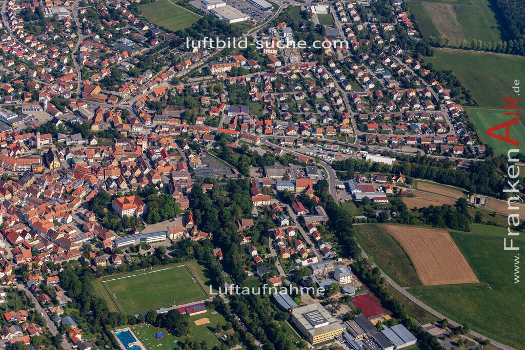 uffenheim-19-740 | aktuelles Luftbild von  Uffenheim - Luftaufnahme wurde 2019 von https://frankenair.de mittels Flugzeug (keine Drohne) erstellt.