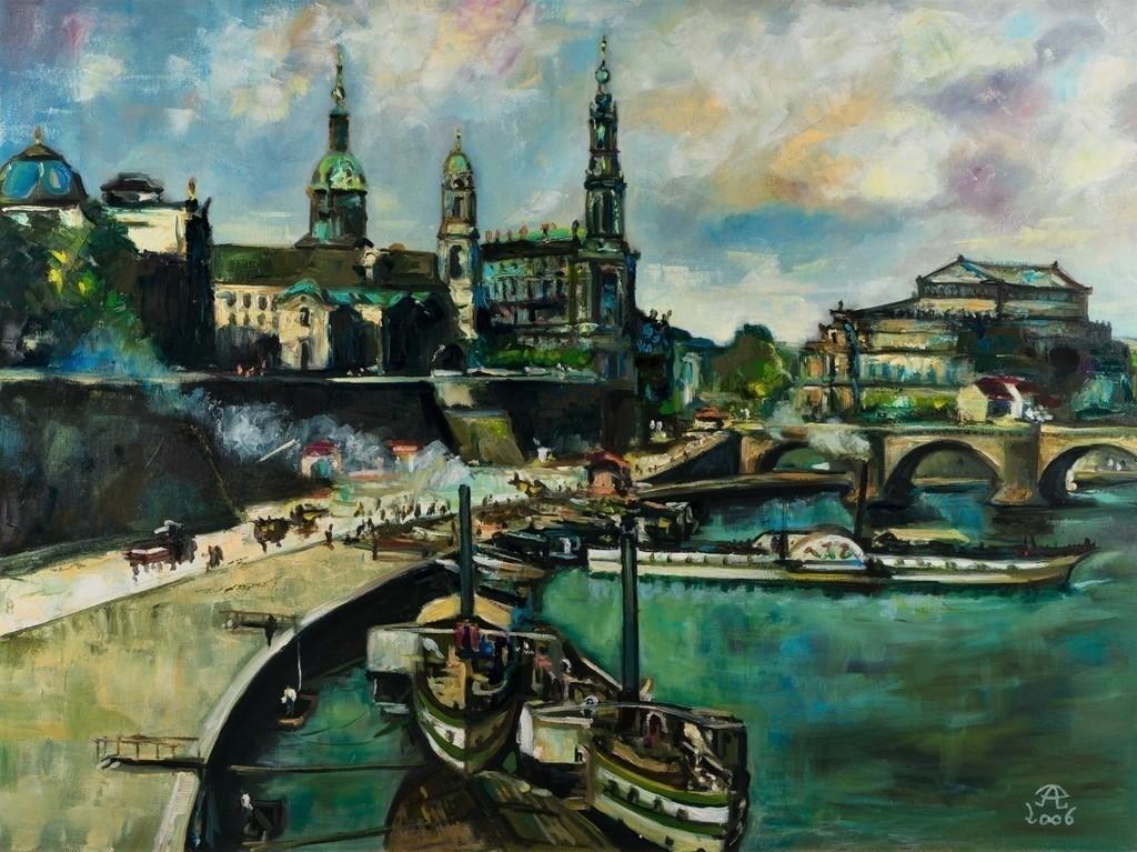 Dresden um die Jahrhundertwende | Originalformat: 60x80cm  -  Produktionsjahr: 2006