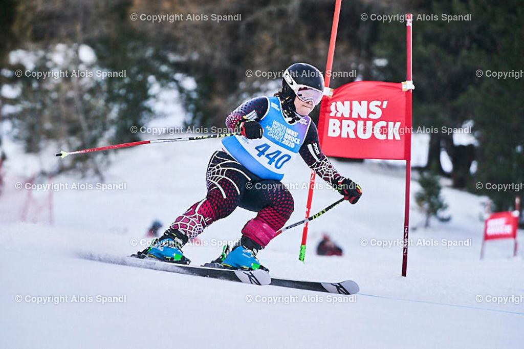 ALS5876_WWMG_GS-II_C | (C) FotoLois.com, Alois Spandl, WinterWorldMastersGames 2020 Innsbruck, Giant Slalom-II Gruppe C Damen, Patscherkofel Olympiaabfahrt, Mi 15. Jänner 2020.