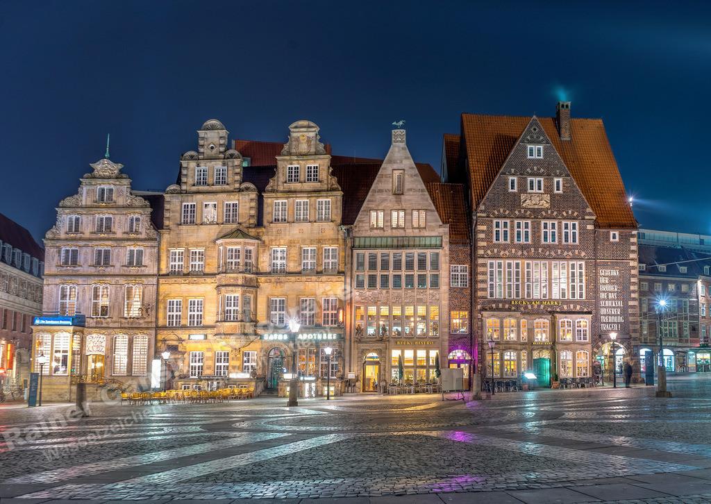 161104-4-Bremen Marktplatz Gibelhäuser Nacht