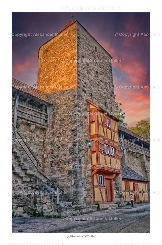 Rothenburg ob der Tauber No.6 | Dieses Werk zeigt den Henkersturm mit Henkersrwohnung von Rothenburg.