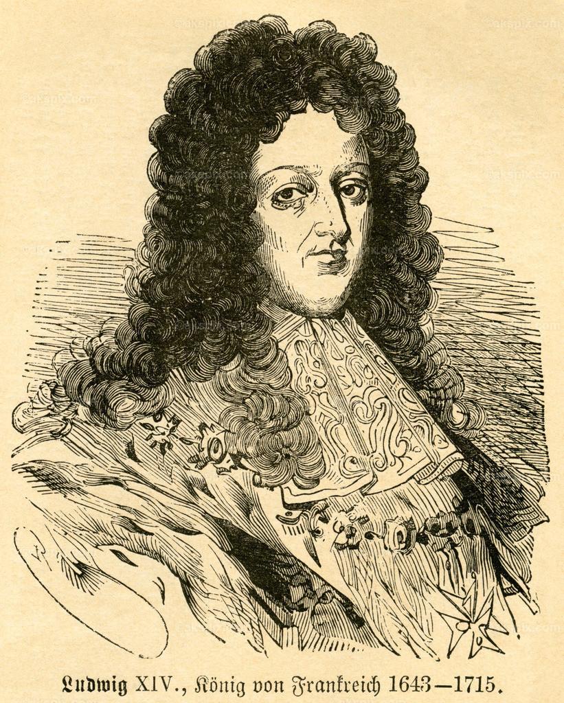 Ludwig XIV. , König von Frankreich / Louis XIV , king of France  | Europa, Frankreich, Ludwig XIV. , König von Frankreich , Motiv aus :