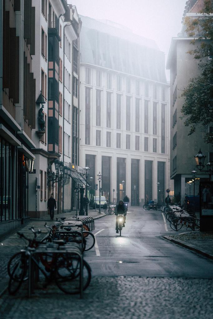 Leipzig Burgstraße Burgplatz Nebel