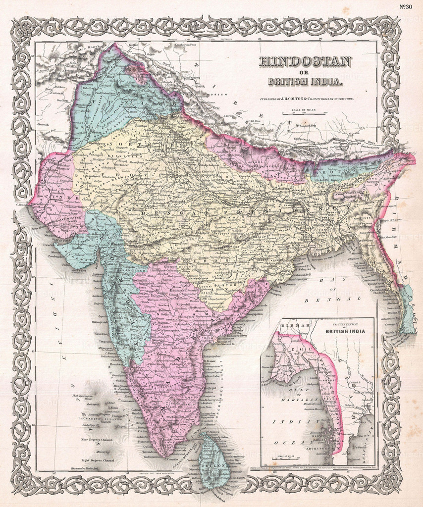 1855_Colton_Map_of_India