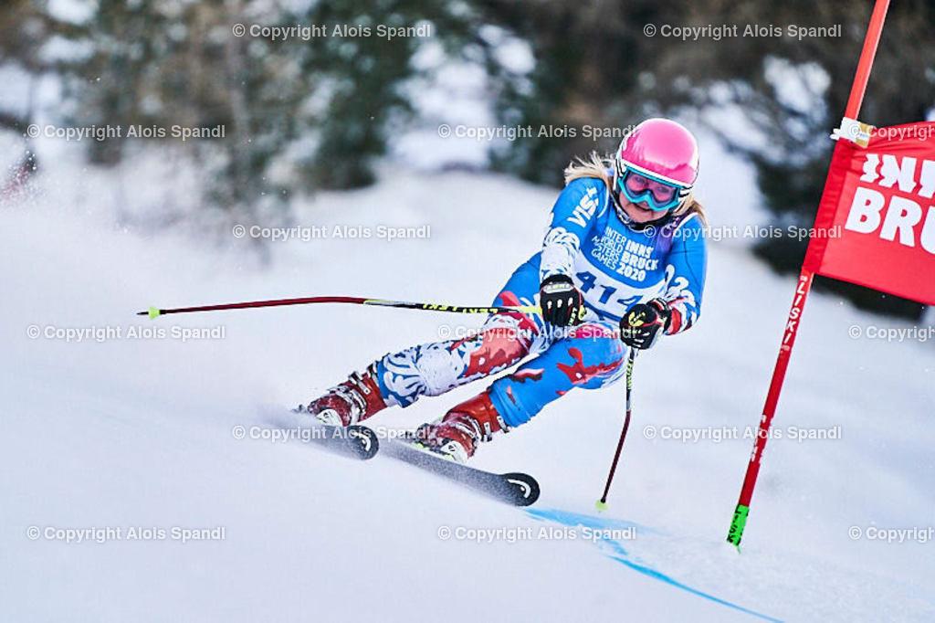 ALS5773_WWMG_GS-II_C | (C) FotoLois.com, Alois Spandl, WinterWorldMastersGames 2020 Innsbruck, Giant Slalom-II Gruppe C Damen, Patscherkofel Olympiaabfahrt, Mi 15. Jänner 2020.
