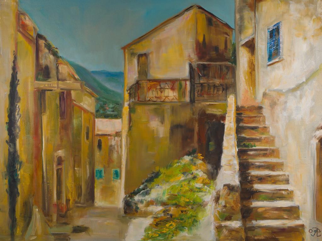 Dorf in Italien | Originalformat: 60x80cm  -   Produktionsjahr: 2009
