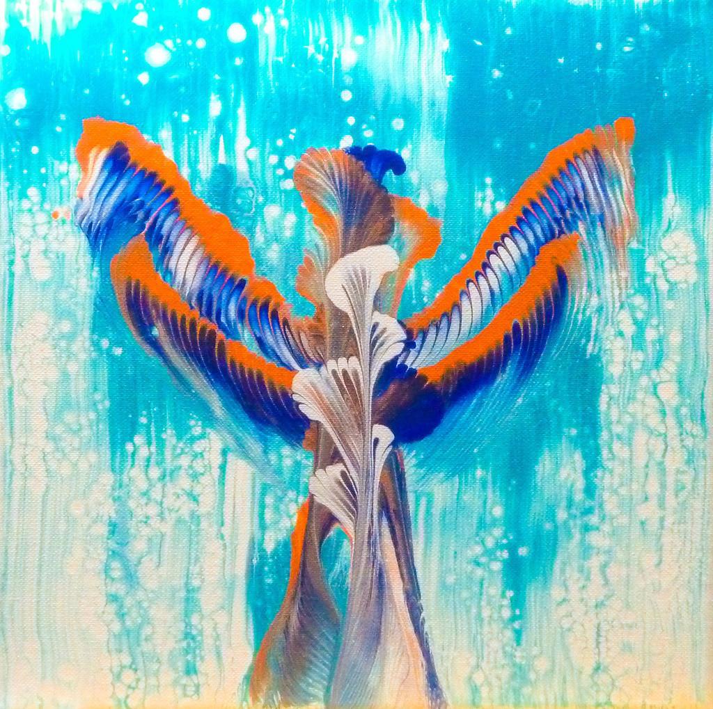 Acrylic Pouring - Im Rausch der Farben!   Meine Werke sind etwas für Individualisten. Jeder Betrachter entdeckt immer wieder etwas Neues in meinen Bildern und verbindet damit seine eigene persönliche Bedeutung. Jedes Bild ist ein Experiment, ein kreatives Zusammenspiel der Farben, welches einzigartige Unikate hervorbringt.  Die einzelnen Serien könnten durch ein ähnliches Farbspektrum erweitert werden.  Sie können hier einen Kunstdruck erwerben, sollten Sie Interesse an dem Original (auf Leinwand) haben dann schicken Sie uns eine Mail oder gern auch eine WhatsApp Nachricht, wir melden uns dann schnellstmöglich bei Ihnen.