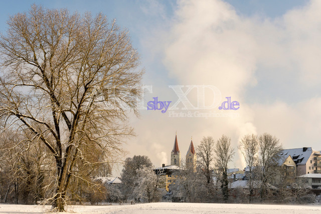 Moosburg im Winter