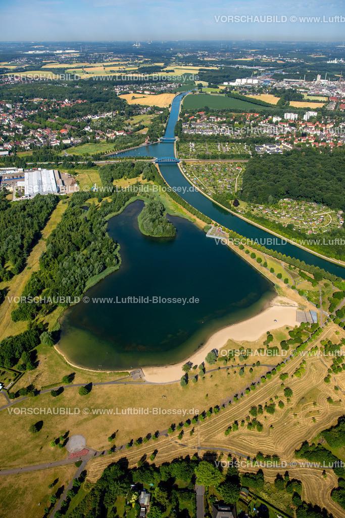 Luenen15071891 | Seepark Lünen mit Kanal und Preußenhafen, Datteln-Hamm-Kanal, Lünen, Ruhrgebiet, Nordrhein-Westfalen, Deutschland