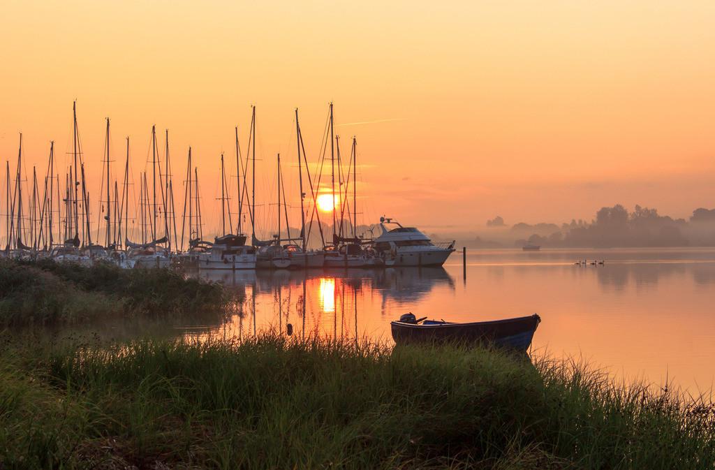Lindaunis an der Schlei | Sonnenaufgang am Yachthafen in Lindaunis