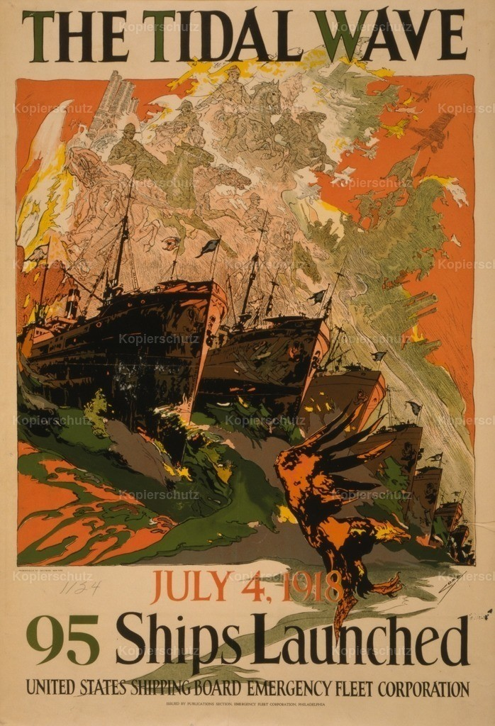 Coll_ Joseph Clement (1881-1921) - Poster 1918 - The Tidal Wave