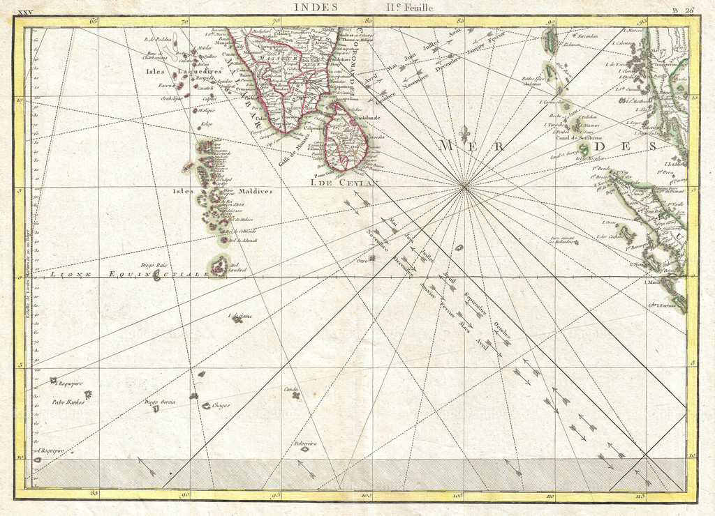 1770_Bonne_Map_of_Southern_India__Sri_Lanka_(Ceylon)__the_Maldives__and_the_Indian_Ocean