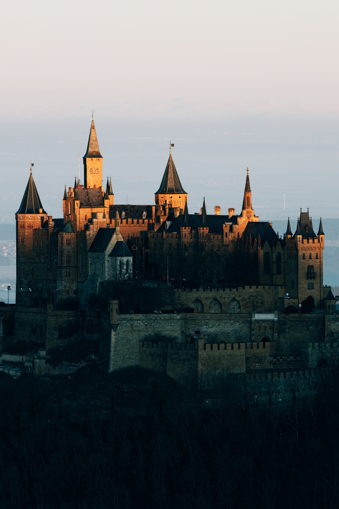 Hohenzollern sunrise close