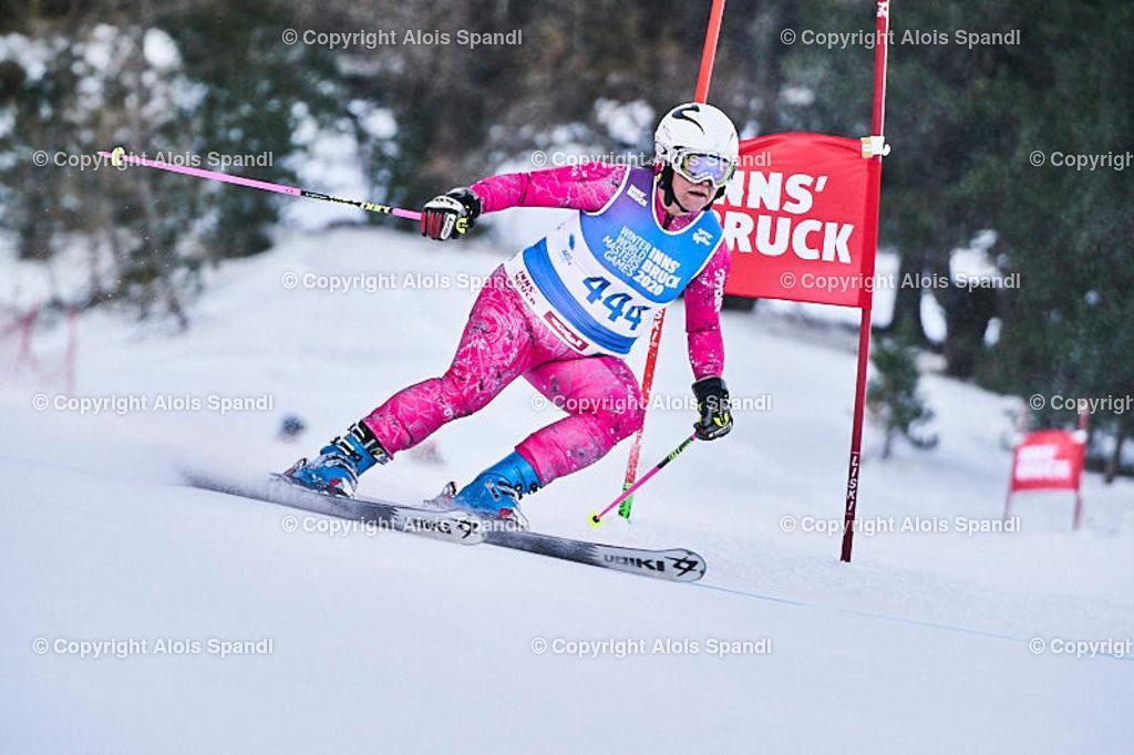 ALS5897_WWMG_GS-II_C   (C) FotoLois.com, Alois Spandl, WinterWorldMastersGames 2020 Innsbruck, Giant Slalom-II Gruppe C Damen, Patscherkofel Olympiaabfahrt, Mi 15. Jänner 2020.