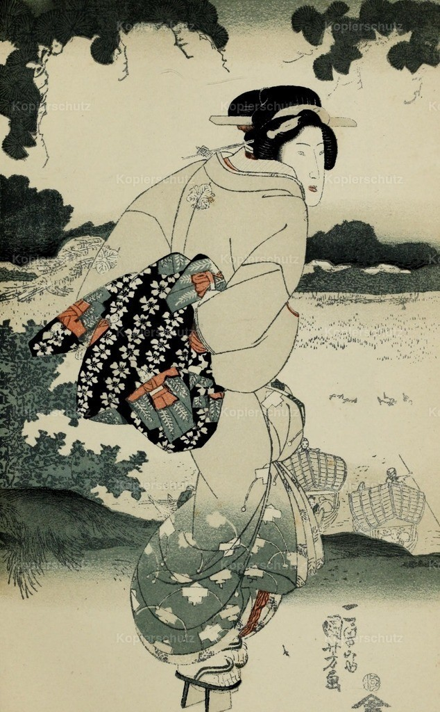 Kuniyoshi_ Utagawa (1797-1861) - Japanese Illustration 1904 - A geisha