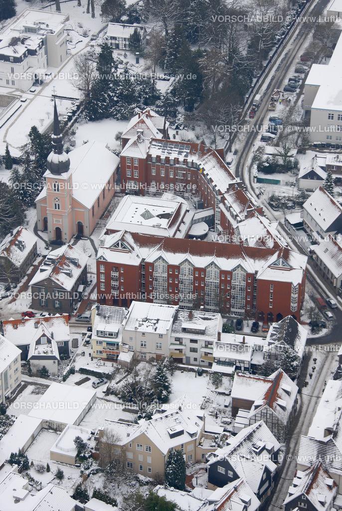 KT10011177 | Schnee,  Kettwig, Essen, Ruhrgebiet, Nordrhein-Westfalen, Deutschland, Europa, Foto: Luftbild Hans Blossey, Copyright: hans@blossey.eu, 06.01.2010, E 006° 56' 30.53