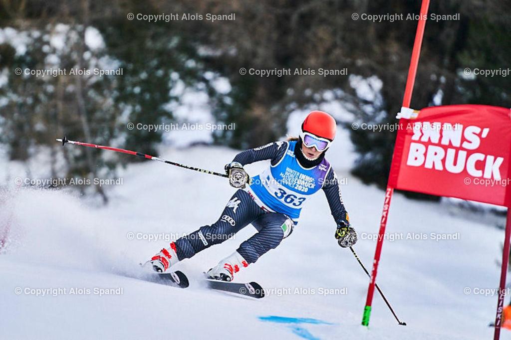 ALS5467_WWMG_GS-II_C | (C) FotoLois.com, Alois Spandl, WinterWorldMastersGames 2020 Innsbruck, Giant Slalom-II Gruppe C Damen, Patscherkofel Olympiaabfahrt, Mi 15. Jänner 2020.