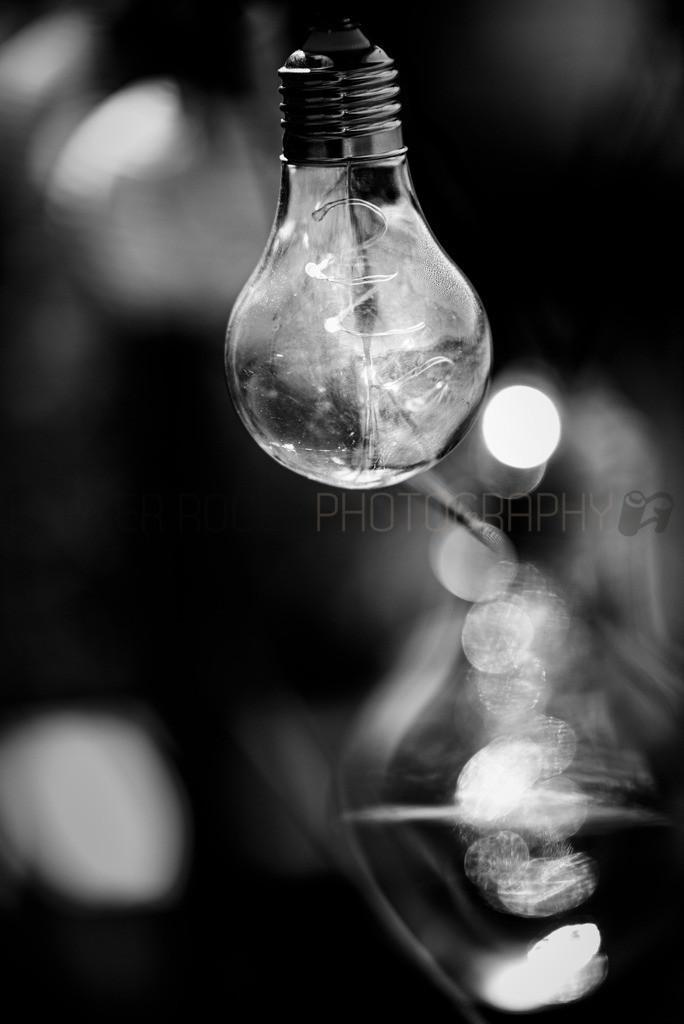 Glühbirnen Lämpchen 2 / Schwarz Weiss | Lichterkette mit Glühbirnen