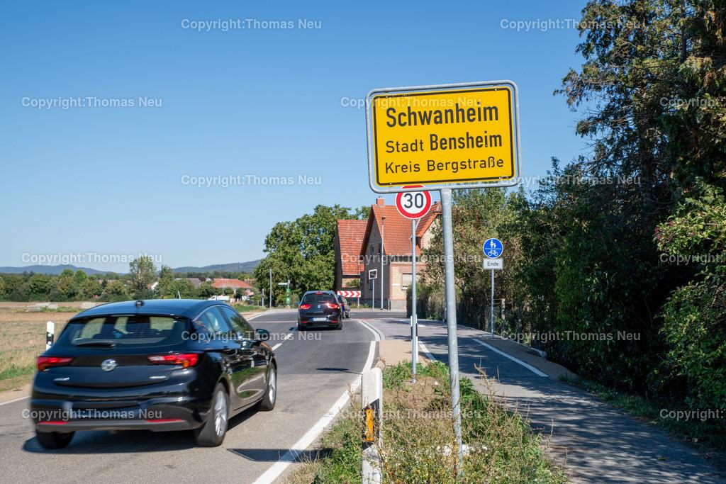 DSC_9983 | Bensheim,bbe,Stadtteil Schwanheim, Ortschild, Ortseingang vom West kommend,  ,, Bild: Thomas Neu
