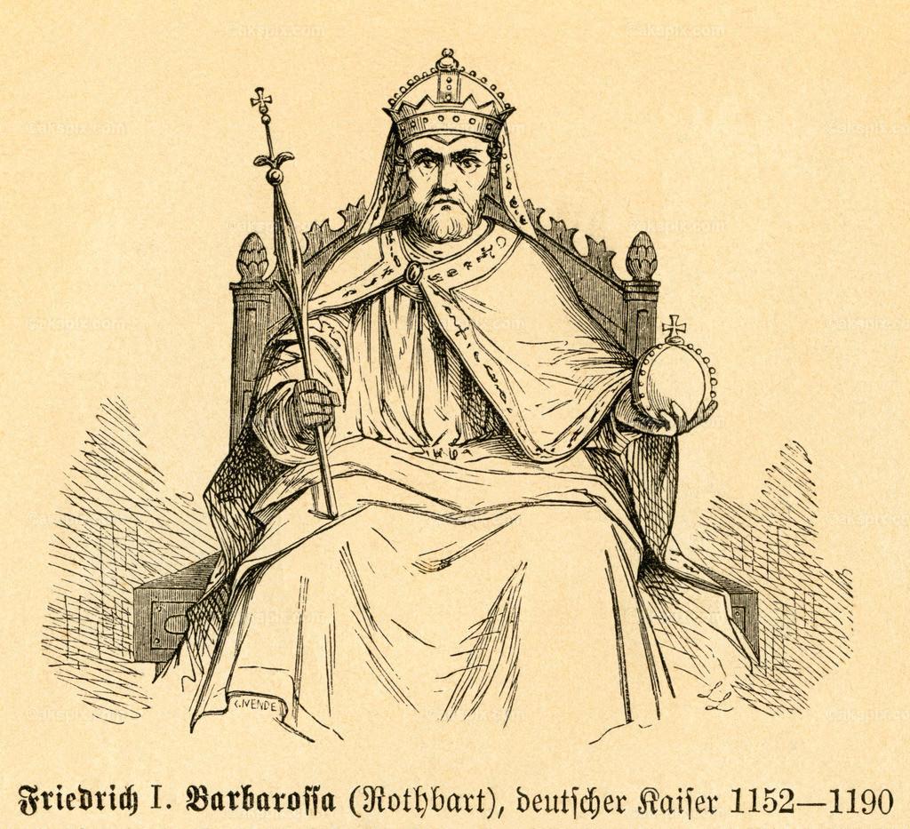 Friedrich I. , German Emperor /  Frederick I , Holy Roman Emperor   Europa, Frankreich, Grand Est, Hagenau, Friedrich I. Barbarossa ,  Motiv aus :