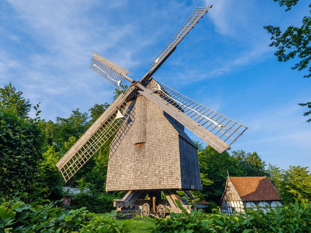 Windmühle am Bauernhausmuseum | Windmühle am Bauernhausmuseum an der Ochsenheide in Bielefeld.