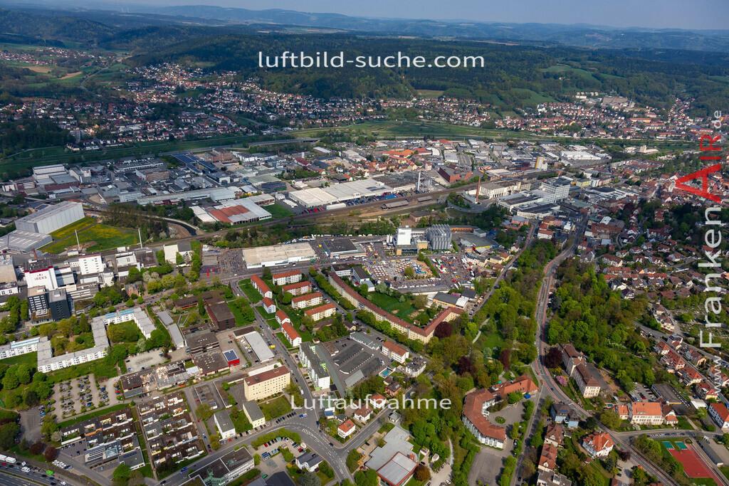 kulmbach-18-77 | aktuelles Luftbild von  Kulmbach - Luftaufnahme wurde 2018 von https://frankenair.de mittels Flugzeug (keine Drohne) erstellt.