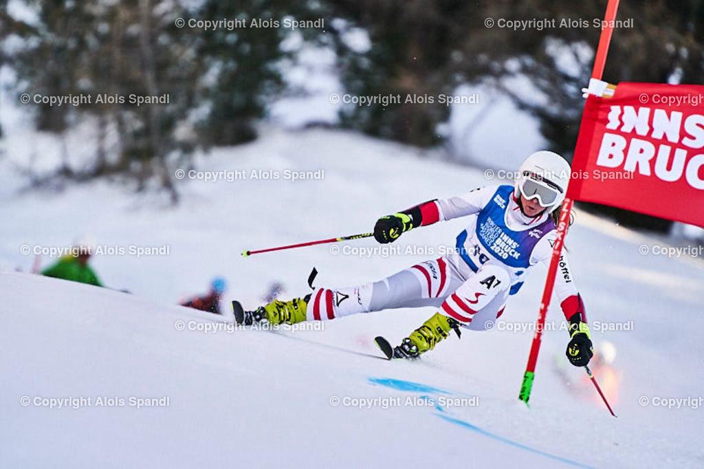 ALS5998_WWMG_GS-II_C | (C) FotoLois.com, Alois Spandl, WinterWorldMastersGames 2020 Innsbruck, Giant Slalom-II Gruppe C Damen, Patscherkofel Olympiaabfahrt, Mi 15. Jänner 2020.