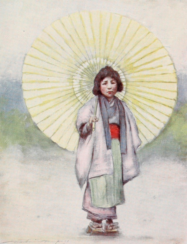 Menpes_ Mortimer (1855-1938) - Japan 1901 - The child and the umbrella