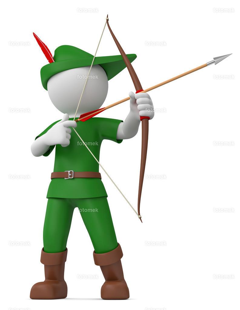 3d Männchen als Robin Hood