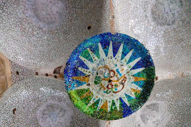Park Güell Antoni Gaudís Garten-Parkanlage Detail | ESP, Spanien, Barcelona, 18.12.2018, Park Güell Antoni Gaudís Garten-Parkanlage Detail [2018 Jahr Christoph Hermann]