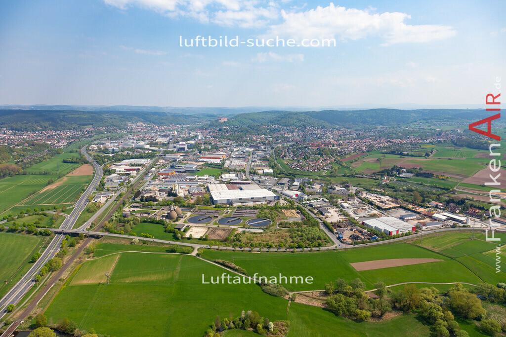 kulmbach-18-57   aktuelles Luftbild von  Kulmbach - Luftaufnahme wurde 2018 von https://frankenair.de mittels Flugzeug (keine Drohne) erstellt.