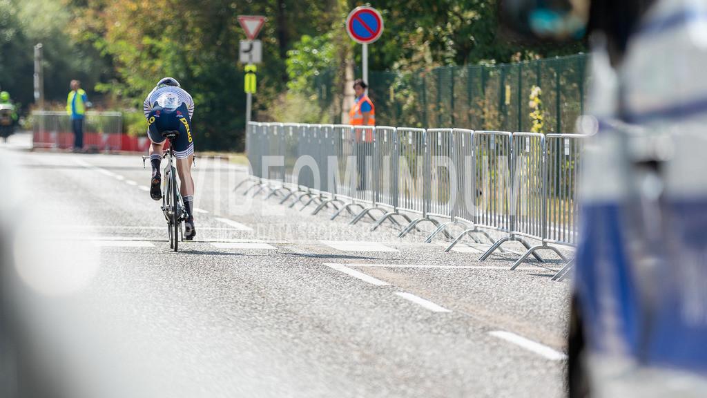 81st Skoda-Tour de Luxembourg 2021 | 81st Skoda-Tour de Luxembourg 2021, Stage 4 ITT Dudelange - Dudelange; Dudelange, 17.09.2021: JENSEN August (DELKO, 133) time trialling