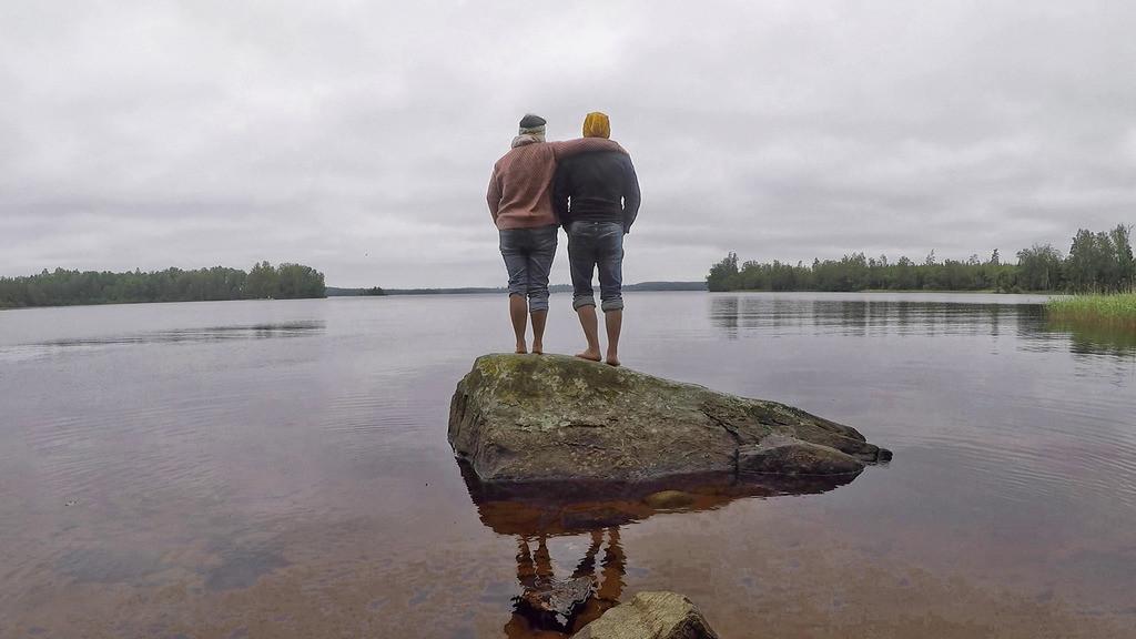 Auf dem Stein in Schweden