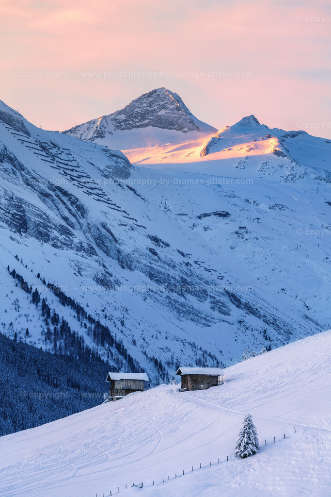 Hintertuxer Gletscher und Olperer im Winter-1