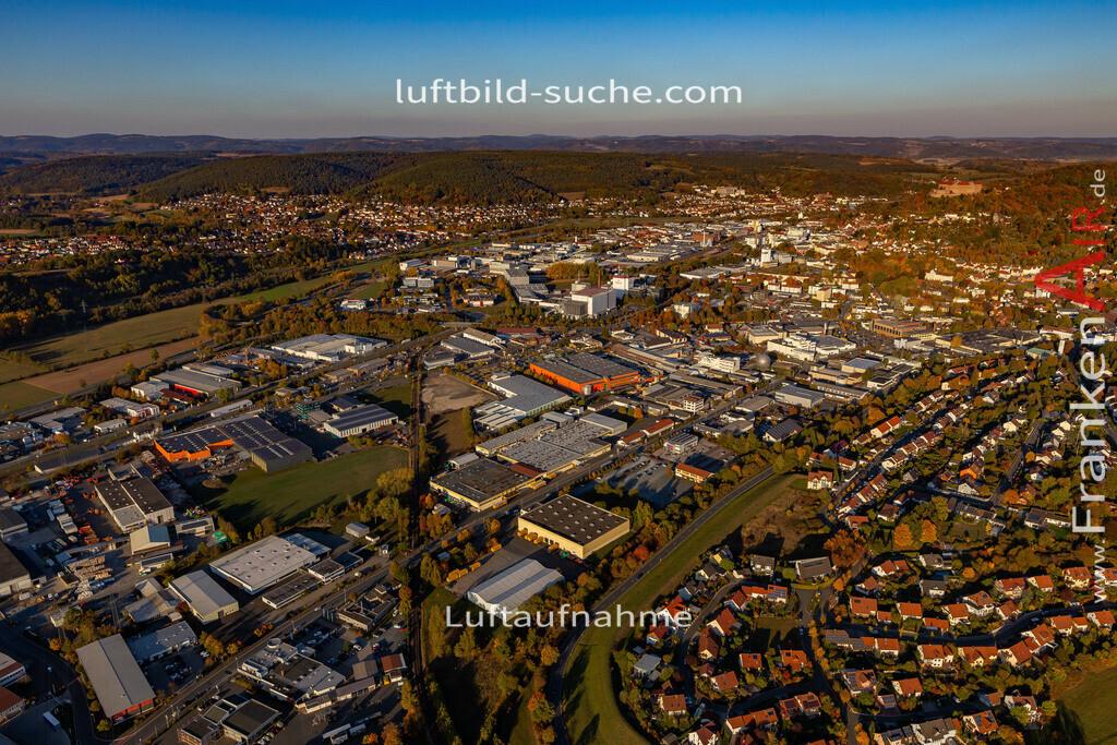 gewerbegebiet-kulmbach-18-368 | aktuelles Luftbild von Gewerbegebiet Kulmbach - Luftaufnahme wurde 2018 von https://frankenair.de mittels Flugzeug (keine Drohne) erstellt.
