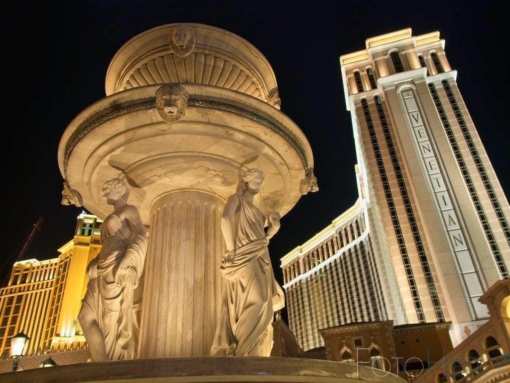 Venetian, Las Vegas   Las Vegas , Brunnen vor dem Hotel Venetian