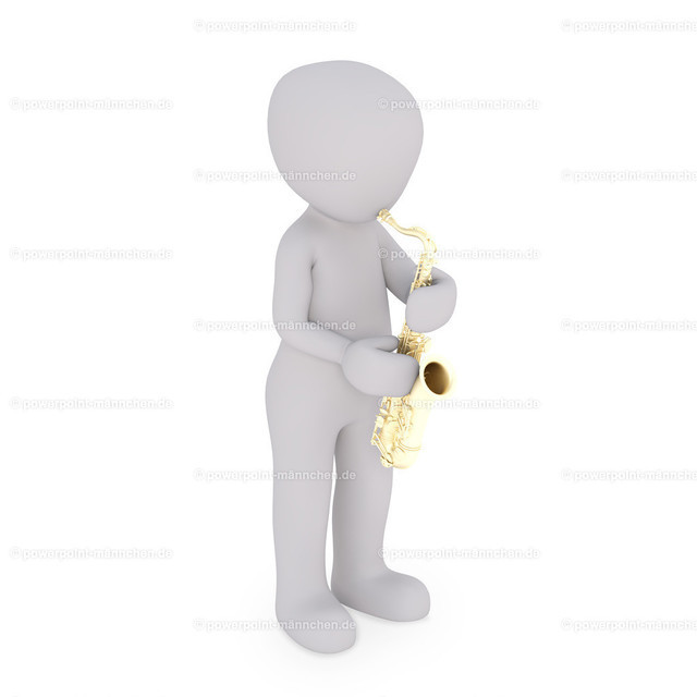 saxophone player is playing his instrument | Quelle: https://3dman.eu   Jetzt 250 Bilder kostenlos sichern
