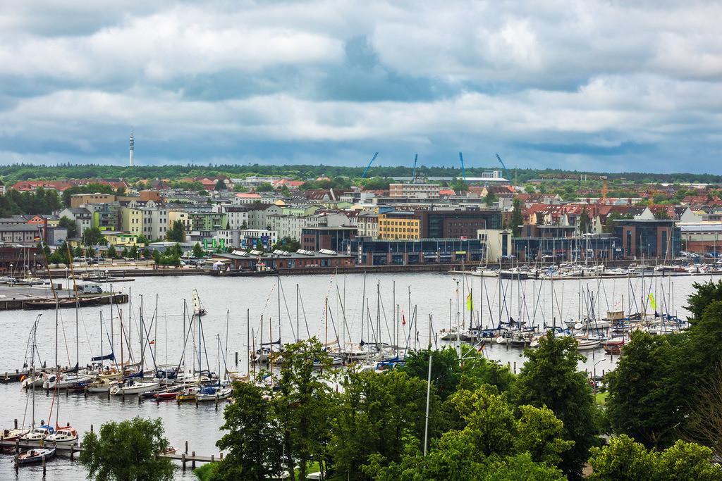 Blick auf die Hansestadt Rostock | Blick auf die Hansestadt Rostock.