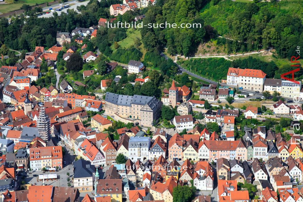 obere-stadt-kulmbach-2009-08   Luftbild von Obere-stadt Kulmbach - Luftaufnahme wurde 2009 von https://frankenair.de mittels Flugzeug (keine Drohne) erstellt - die Geschenkidee