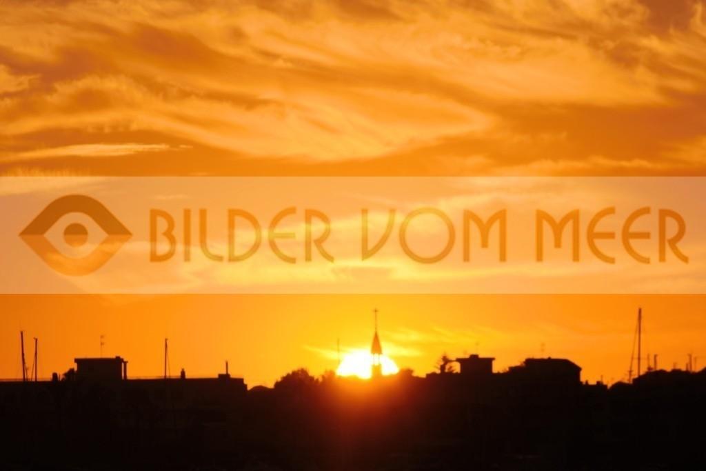 Bilder Sonnenuntergang am Meer   Sonnenuntergang am Mar Menor in Spanien